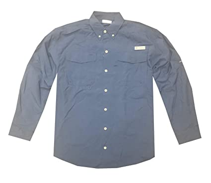 a27c4ee2301 Columbia Men's PFG Omni-Shade UPF 30 Distant Water Convertible Sleeve Shirt  (S,