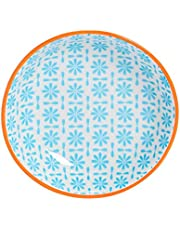 Nicola Spring Patterned Sauce Dish - Small Porcelain Salsa Dipping Plate - Electric Blue - 10cm