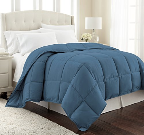 Southshore Fine Linens - Vilno Springs - Down Alternate Medium Weight Comforter - Coronet Blue, Full/Queen