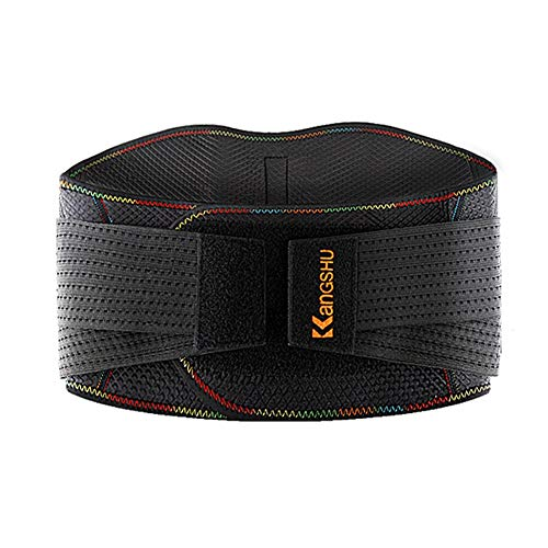 ZFF Lower Back Lumbar Support Belt Brace - for Men & Women Sport Or Work Related Low Back Pain - Support Stress Reliever (Color : A, Size : L)