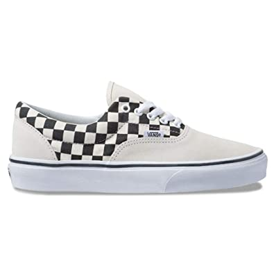 Amazon.com | Vans OTW Primary Check Era Sneakers (Marshmallow/Black ...