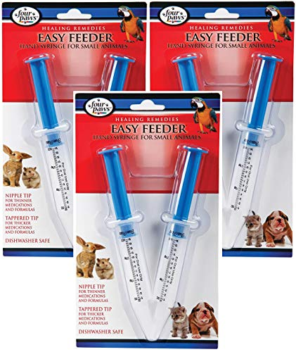 Easy Feeder - (3 Pack) FourPaws Easy Feeder For Pets (2 Count Per Pack / 6 Feeders Total)