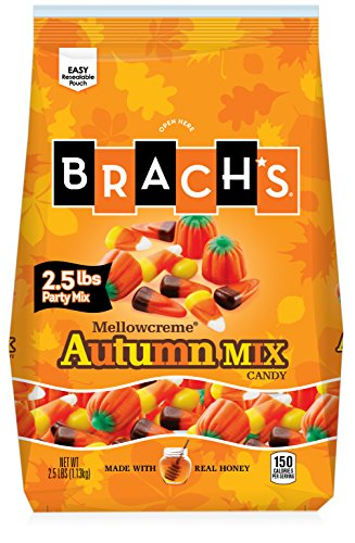 Brach's Mellowcreme Autumn Mix Candy Corn Bag, 2.5 Pound]()