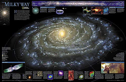 - National Geographic: The Milky Way Wall Map (31.25 x 20.25 inches) (National Geographic Reference Map)