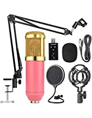Lixada BM800 Suspension Microphone Kit Studio Live Stream Broadcasting Recording Condenser Microphone Set