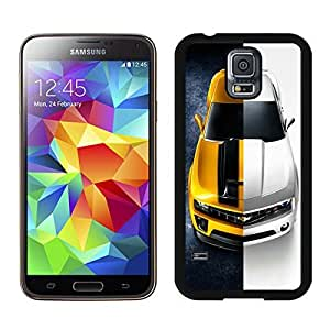 Samsung Galaxy S5 i9600 Case,Yellow and White Chevrolet Camaro Black For Samsung Galaxy S5 i9600 Case WANGJING JINDA