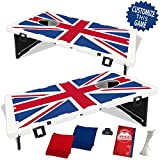 United Kingdom Union Jack Flag Baggo Bean Bag Toss Portable Cornhole Game