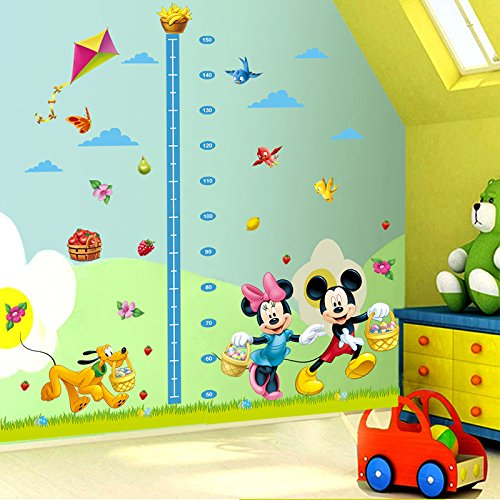 Minnie mouse growth chart height measure kids baby bedroom wall sticker decorative home decals by PerfectPrice