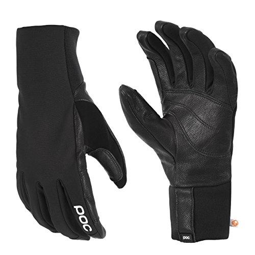 POC Wrist Spring Gloves, Uranium Black, Small - Black Pipe Glove