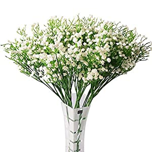Babys Breath Artificial Flowers Gypsophila Real Touch Flowers Fake Flowers Plant for Wedding Party Home Garden Decoration, 12 Pcs 63
