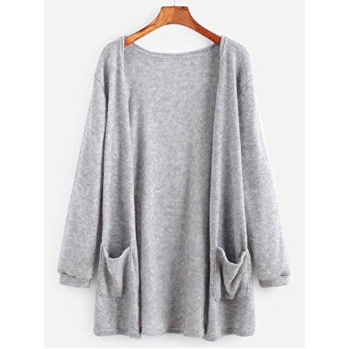 mujeres la del manga Internet de de de larga chaqueta Gris rebeca larga suelta blusa capa otoño Las Outwear 4qxwwp5PR