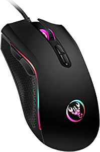 Wired Mouse Docooler A869 Wired Gaming Mouse 3200DPI 7 Buttons 7 Color LED Optical Computer Mouse Player Mice Gaming Mouse for Pro Gamer
