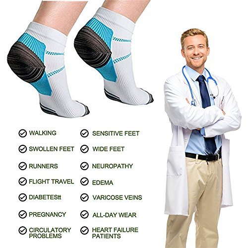 Compression Socks (6 Pairs),15-20 mmhg is BEST Athletic & Medical for Men & Women, Running, Flight, Travel, Nurses