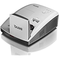 BenQ MW853UST+ Ultra-Short Throw Projector WXGA  1280 X800, 3200 Lumens with 2 X HDMI and Wall Mount Projector