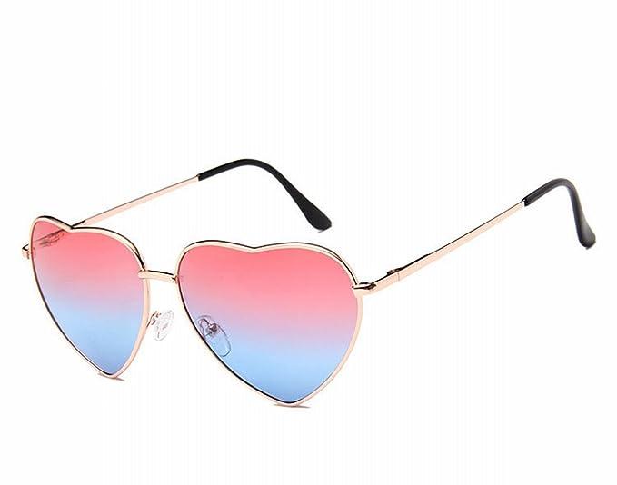 klassische Retro Pfirsich Herz sonnenbrille Männer und frauen Meer Linse Serie Liebe brille sonnenbrille goldrahmen auf dem Grün unter der orange 1LOSU