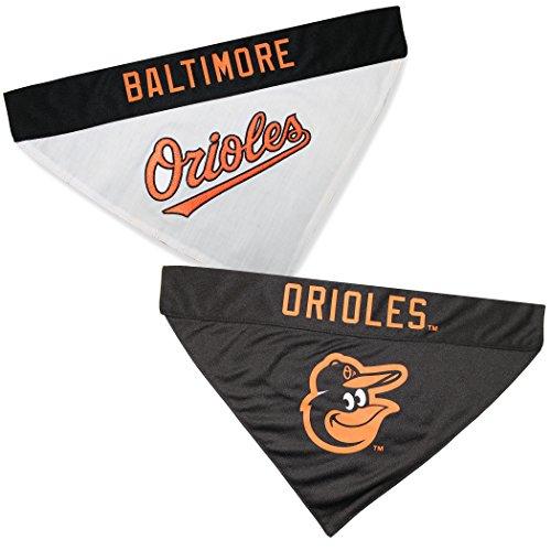 Pets First ORL-3217-L-XL MLB Baltimore Orioles Reversible Pet Bandana, Large/X-Large, MLB Team Color ()