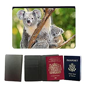 Passeport Voyage Couverture Protector // V00002817 oso koala australiano // Universal passport leather cover