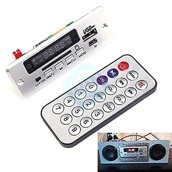 Amazon.com: Mini tarjeta decodificadora MP3 Bluetooth 5V ...