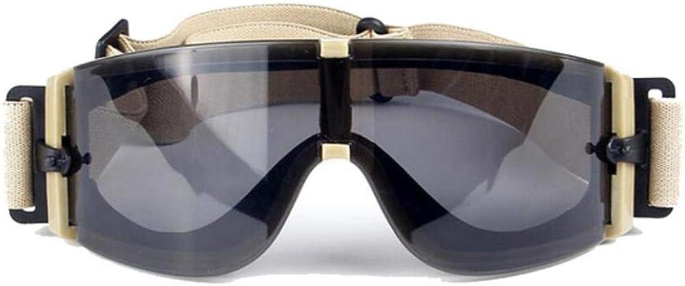 LJQIANG X800 Balístico Gafas Ejército 3 De Gafas De Sol Lentes De Visión Nocturna Equiparla Casos Wargame Gafas De Sol De Batalla Militar Anit-UV
