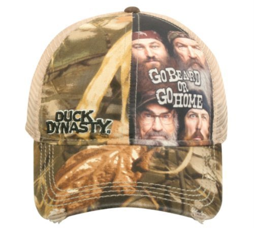 Duck Commander Duck Dynasty Realtree Max-4 Camo Go Beard or Go Home Mesh Hat