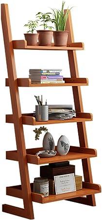 Madera sólida Repisa escalera Estantería de bambú,Espesado Asesinato Montaje fácil Esquina Soporte de la flor Soporte de exhibición de la biblioteca Pie de Para hogar u oficina -B 60x30x140cm(24x12x55inch): Amazon.es: Hogar