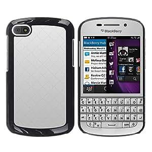 TopCaseStore / la caja del caucho duro de la cubierta de protección de la piel - Simple Pattern 17 - BlackBerry Q10