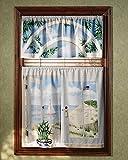 Saturday Knight Seashore Window Art Valance, 48 x 19