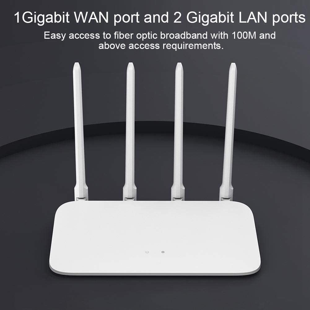 US Router 100-240V 128MB for MI Router 4A Dual-core CPU Gigabit Edition with High Gain Antenna