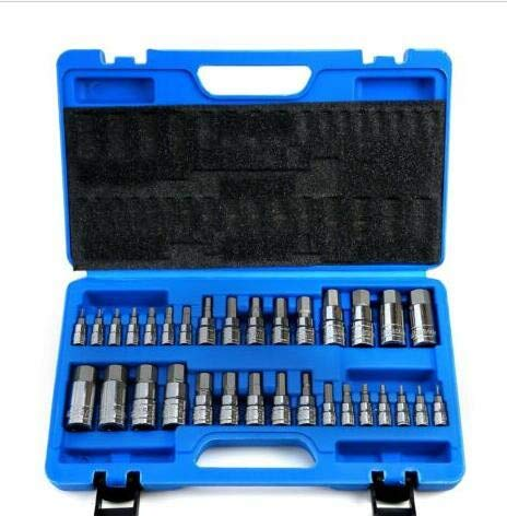 Redgiants 32PCS Drive Master Impact Socket Set,Allen Wrench Bit Kit Hex Mechanics Tools Kit For Ratchet Socket Tool Metric Set ()