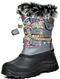Best Kids Snow Boots - DREAM PAIRS Big Kid Ksnow Grey Multi Isulated Review