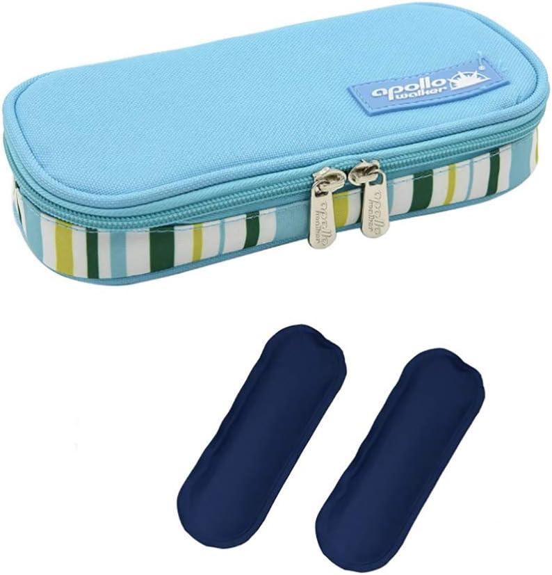 CMCC Enfriador De Insulina Bolsa, Portátil Viajeenfriador Mantiene Jeringas Medicamentos Temperatura Adecuada Light Blue: Amazon.es: Salud y cuidado personal