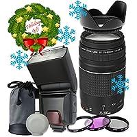 Canon EF 75–300mm f/4–5.6 III Autofocus Lens for Canon T3 T3i T4i T5i 60D 70D Digital Cameras