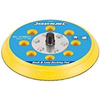 Silverline 514851 Hook and Loop Backing Pad, 150 mm, 5/16 inch UNF