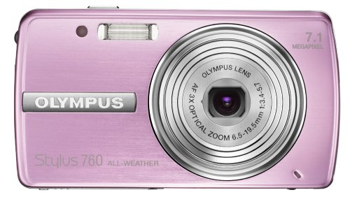 Olympus Stylus 760 7.1MP Digital Camera with Dual Image Stabilized 3x Optical Zoom (Pink)