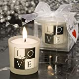 64 Love Design Candle Favors