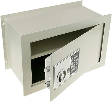 PrimeMatik - Caja Fuerte de Seguridad empotrada con código electrónico Digital 36x19x23cm Beige: Amazon.es: Electrónica