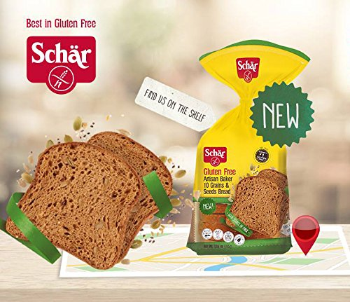 Schar NEW Gluten Free, Artisan Baker 10 Grains & Seeds Bread, 13.6 oz (Pack of 3)