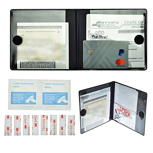 Strips - 2 EZ Pass Mounting Kits with 2 Insurance, Registration, and Inspection Card Holders (Ez Pass Holder Motorcycle)