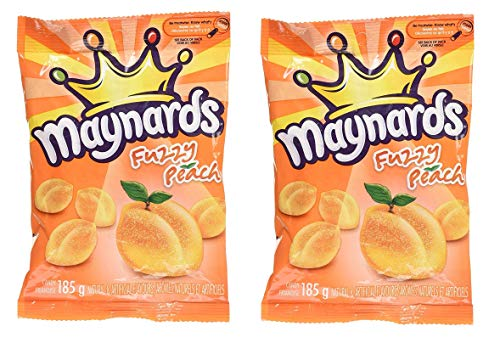 Fuzzy Peach - Maynards Fuzzy Peach Candy, 185g, 2ct, Imported from Canada