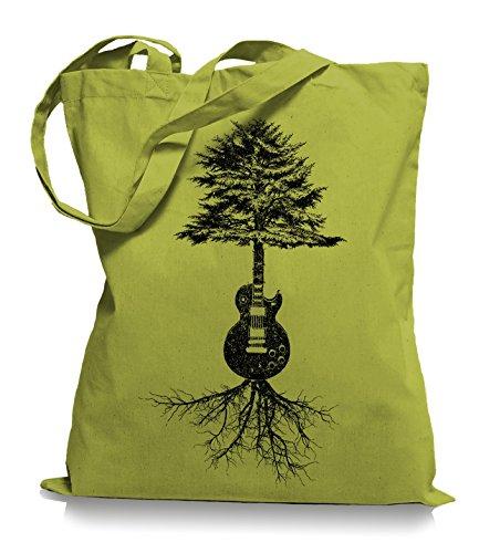 Guitar Tree Roots Stoffbeutel | Gitarrist Tragetasche Gitarre Bassist Kiwi 6X02TRm