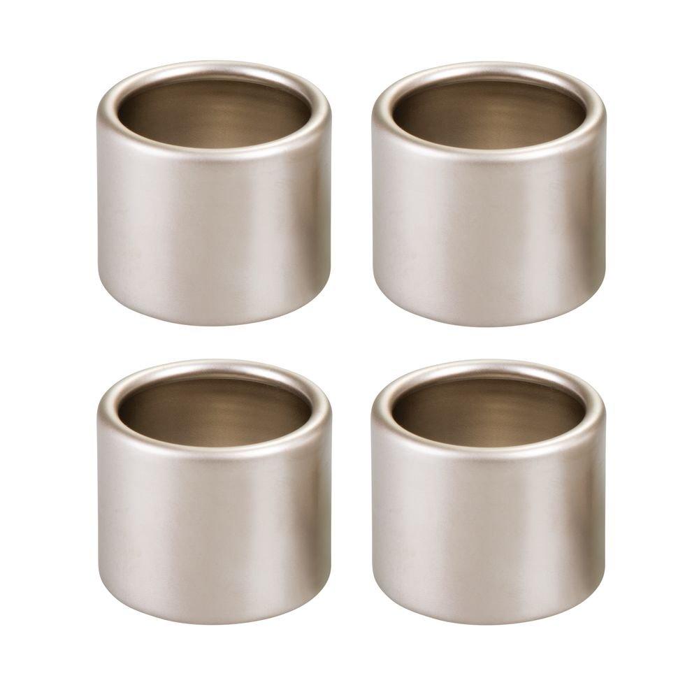 InterDesign Forma Napkin Rings for Home, Kitchen, Dining Room-Pack of 4 Set/4, Matte Satin