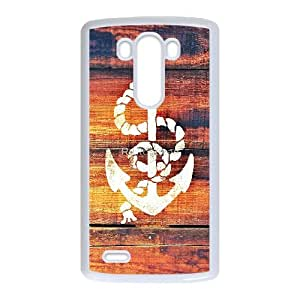 DIY Printed Nautical Anchor hard plastic case skin cover For LG G3 SNQ632032