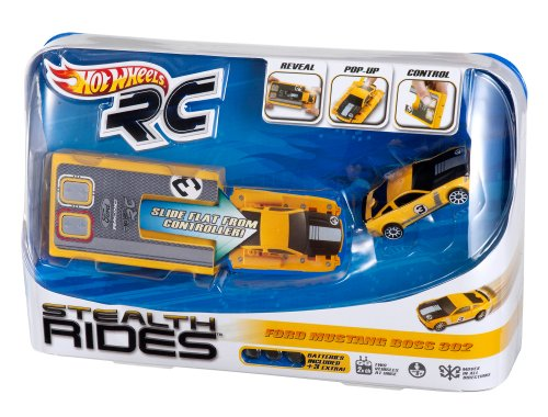 Hot Wheels RC Stealth Rides Ford Boss 302 Yellow Racing Car