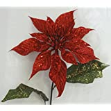 "25"" Red Christmas Poinsettia Spray (Pack of 12)"
