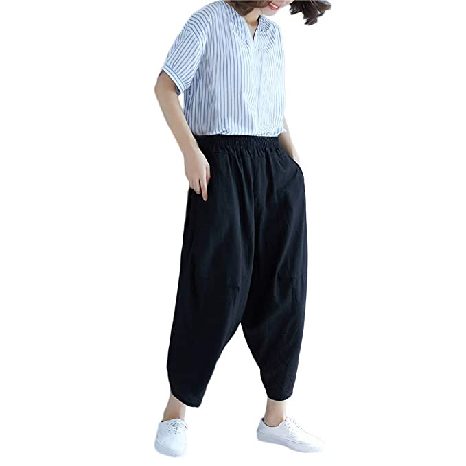 ZYUEER Pantaloni Sportivi Allentati dei Larghi Adatti di