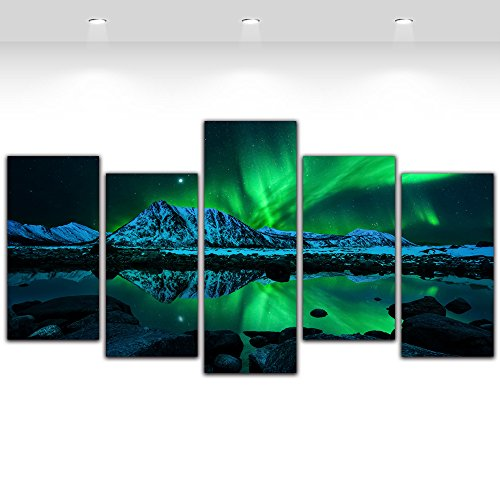 5-pieces-canvas-prints-painting-aurora-borealis-painting-canvas-artwork-wall-art-picture-home-decor-