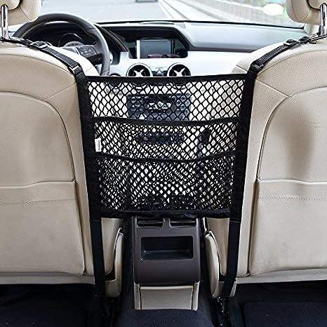 Amazon.com: Organizador de malla para coche de 3 capas ...