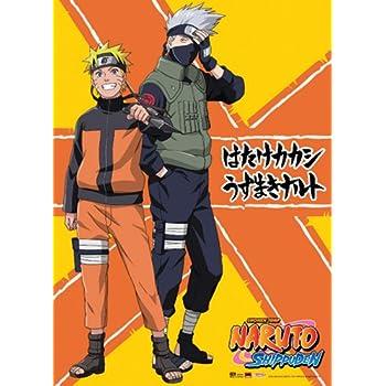 Great Eastern Entertainment Naruto Shippuden Naruto and Kakashi Wall Scroll, 33 by 44-Inch