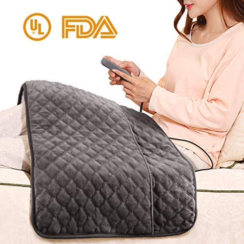 Electric Heating Pad, XXX-Large Heating Pad with Auto Off and Ultra Soft Plush Crystal Heating Technology for Moist and Dry Heat Therapy, Fast Neck/Shoulder/Back Pain Relief at Home