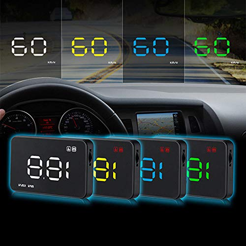 Supermotorparts 1x A1000 Car HUD Head Up Display Projector Speed Warning System Fuel Consumption by Supermotorparts